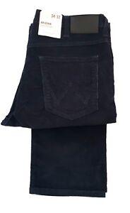 Arizona Mens Leg Navy Tall Straight 36 Zip Blue Wrangler Fly Cord Jeans RRrqwaW5