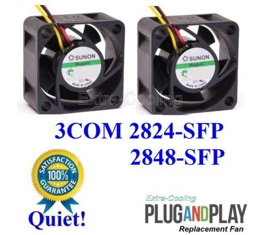 3C16479 Quiet Fan Kit Lot 2x Low Noise Fans 3COM BASELINE Switch 2848 2824-SFP