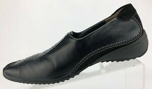 Paul-Green-Loafers-Black-Leather-Comfort-Moc-Toe-Dress-Shoes-Womens-Sz-6-5-US-9