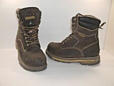 "DAKOTA Men's Quad 517 8"" STCP Steel Toe Work Boots Brown Size 11 3E Wide"