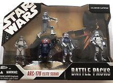 STAR WARS Battle Packs ARC-170 ELITE SQUAD With 2 ARC-170 TROOPERS + 3 FIGURES
