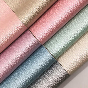 Soft-Pearl-Lustrous-Lychee-Faux-Leather-Fabric-Vinyl-Bags-Craft-Material-Decor