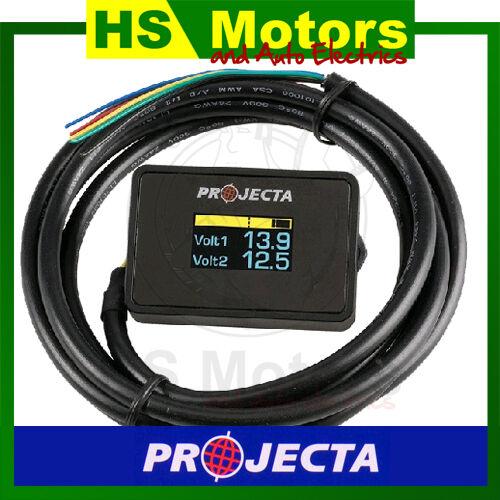 Projecta Dual Battery Monitor DBM100 - with voltage alarm, Caravan Volt Meter