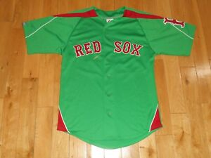 san francisco d1146 5d706 Details about Majestic DAVID ORTIZ Green St Patricks Day BOSTON RED SOX  Mens MLB Team JERSEY S