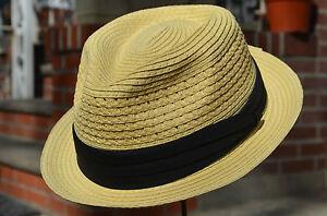 ed4eee516085e Summer Men s Straw Porkpie Cuban Fedora Vent Trilby Stingy Brim Hat ...