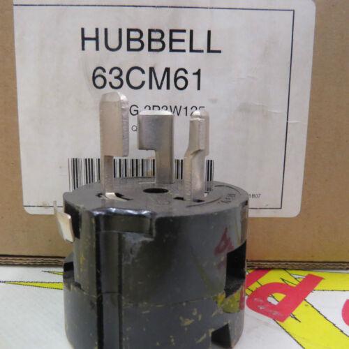 125 volt 50 amp Hubbell 63CM61 Plug 2P3W125