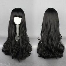 Good Quality 80cm Long Curly Cosplay RWBY Blake Belladonna Black Cosplay Wig z65