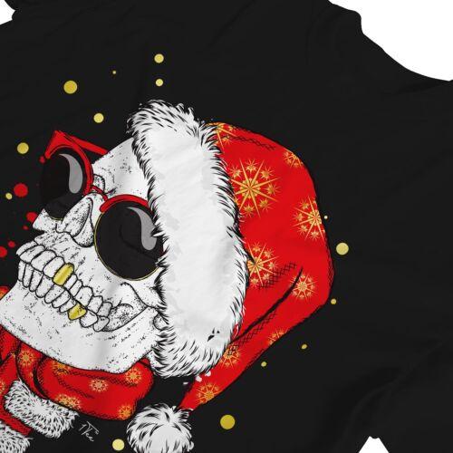 1Tee Bottines Femme Coupe Ample gangster crâne avec or dent de Noël T-Shirt