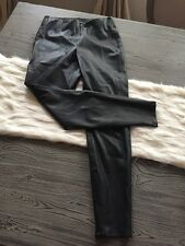 Zara M Leggings Faux Leather Pull On Skinny Pants Ankle Zippers Soft