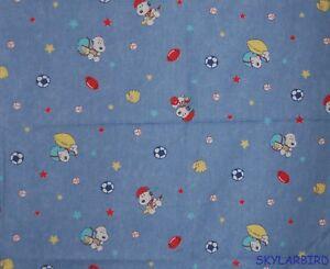 FQ-Rare-HTF-Baby-Snoopy-Sports-Denim-Look-Cotton-Fabric-FQ
