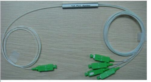 1x4 SC//APC Fiber Optic PLC Splitter Fiber splitters Fiber pigtails