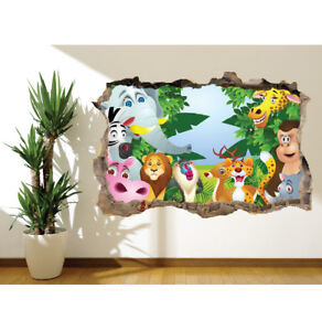 Animals-in-the-Jungle-Lion-Zebra-wall-sticker-wall-mural-bedroom-13497135