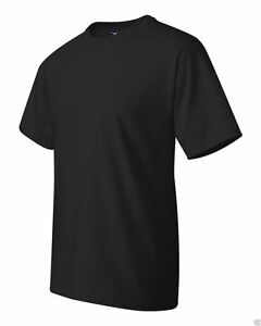 6 Pack Hanes Beefy T Shirts BLACK 5180 S-6XL Wholesale Cotton Short Sleeve NEW