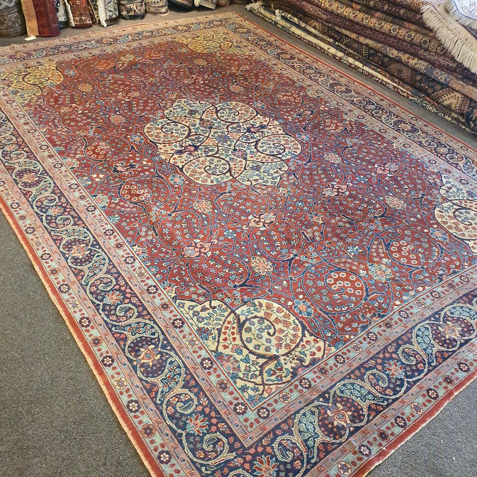 Ægte Håndknyttet Persisk Tabriz tæppe