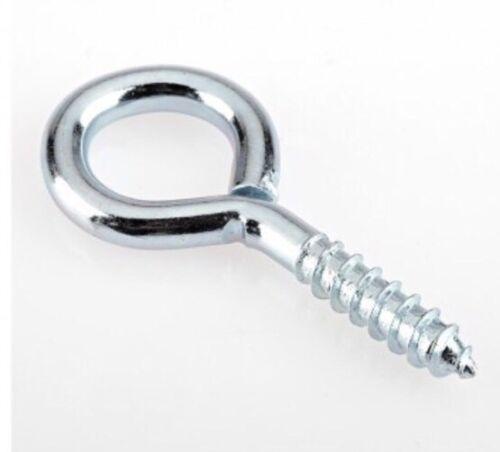 10 X Small Steel 35mm Screw In Wire Eyes Hooks Curtain Thread Twist Loop Hoop