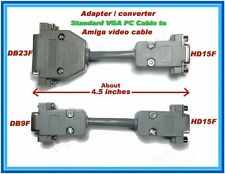 Adapters Converters SUB15 PC VGA cable to Commodore Amiga video cable DB23 & DB9