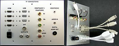Umorismo Av Tv In Metallo Muro Piatto Hdmi/usb/cat6/jack Composito// Rf/audio Ottico Coda-lead-composite/jack/rf/optical Audio Tail-leads It-it Sentirsi A Proprio Agio