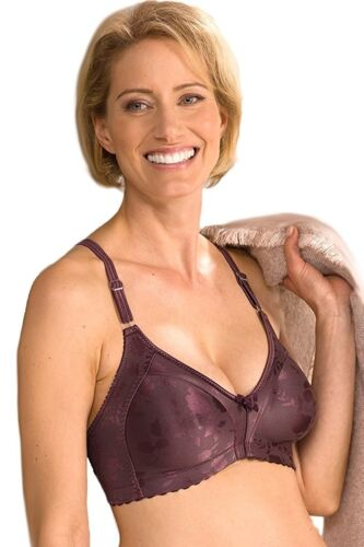 12B-12DD Naturana #5363 Moulded Soft Cup Wire Free Minimizer Satin Bra Support
