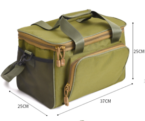 Square Canvasa Shoulder Bags Messenger Bag For Fishing Lures Reel Tackle Gear