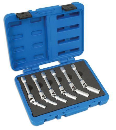 Laser Tools Extra Long Glow Plug Socket Set 6 Pieces 4324