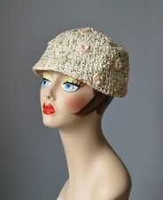 """Vintage Ladies Hat 1960s """" Amy NY """" Pink Green & White Floral Bucket Hat"""