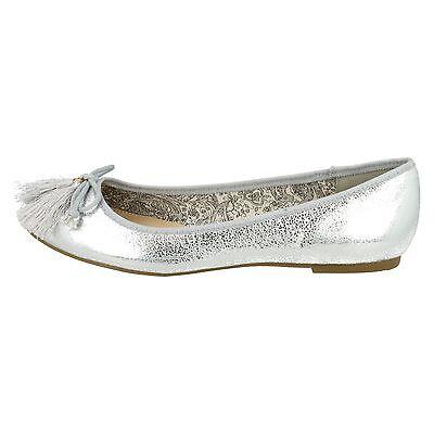 Damen Spot on ohne Bügel Puppe Ballerina flache Schuhe F80198
