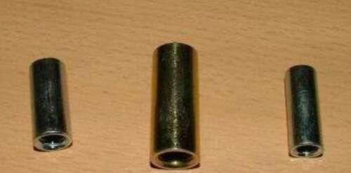 Gewindehülse verzinkt rund M6 x 20mm 10Stück