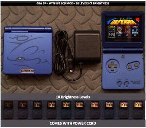 Nintendo Game Boy Advance GBA SP IPS MOD System 10 Level Brightness - Kyogre