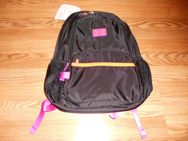 b1c99bd935 Girls Under Armour Great Escape Bookbag Backpack Black Pink 1260542 ...