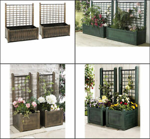 Image Is Loading PAIR OF LARGE GARDEN PLANTERS PLASTIC BOX Amp