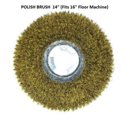 "Fits 16/"" Floor Machine Mixture of Tampico /& Palymyra Fibers 14/"" Polish Brush"