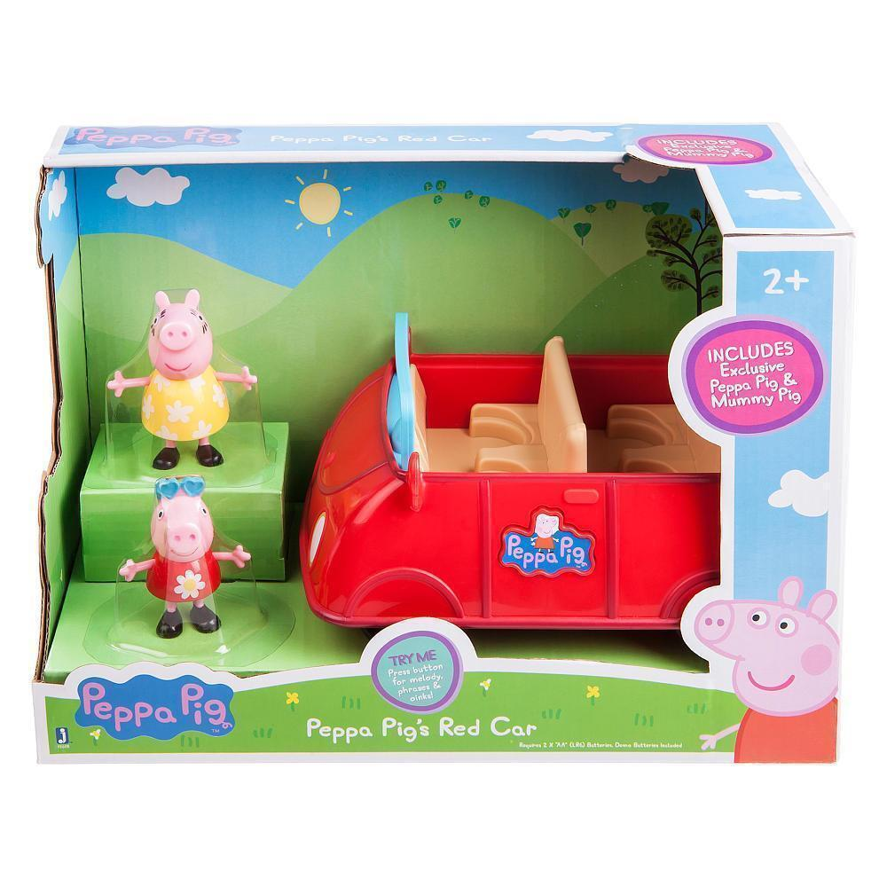 Peppa Pig - Peppa's Red Car 2 Exclusive Peppa & Mummy Pig Figures