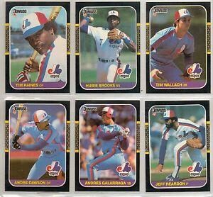 1987-DONRUSS-BASEBALL-MONTREAL-EXPOS-24-CARD-TEAM-SET-ANDRE-DAWSON-TIM-RAINES