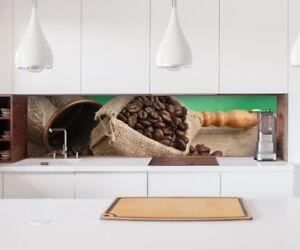 Aufkleber Küchenrückwand Kaffee Bohnen Sack Küche Folie Deko ...