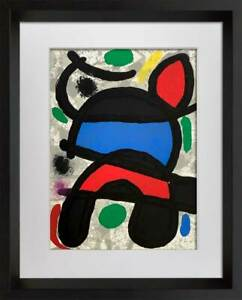 Joan-MIRO-Original-Numbered-Limited-EDITION-Lithograph-no-106-w-Frame-Included