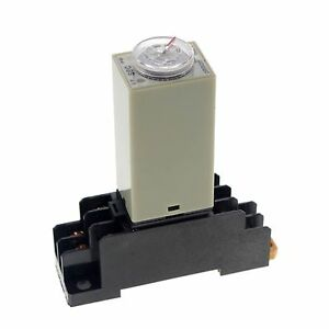 24VAC-2-0-60S-H3Y-2-Power-On-Time-Delay-Relay-Solid-State-DPDT-8-Pins-amp-Socket