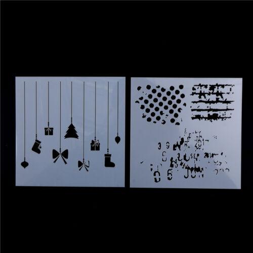 Layering Polka Stencil Wall Painting Scrapbooking Album Embossing Paper CardaZP