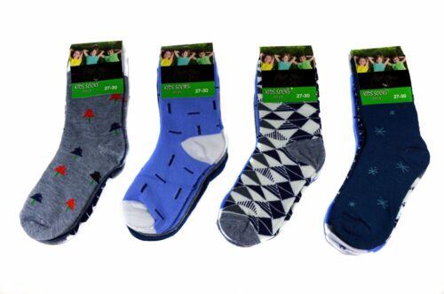 12 Pair Kids Boys Socks Children Stockings 85/% Cotton A.S-100 Size 23-38
