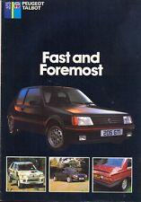 Peugeot Talbot 205 GTI T16 305 505 Samba 1985 UK market colour sales brochure