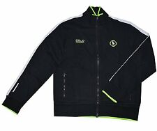 [130 23] Polo Ralph Lauren Mens Black Soft Shell Full Zip Sweater Jacket Large L