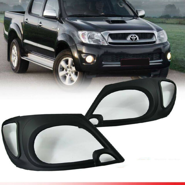 Front Bumper Black With Wheel Arch Moulding Holes Toyota Hilux 2009-2011 New