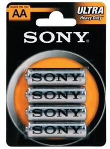 cf 4 pz Sony batterie stilo ministilo pile allo zinco cloride 1,5V AA batteria