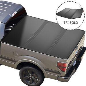 09-21 For Dodge Ram 1500 Crew Cab 6FT Bed Hard Lights Tri-Fold Tonneau Cover
