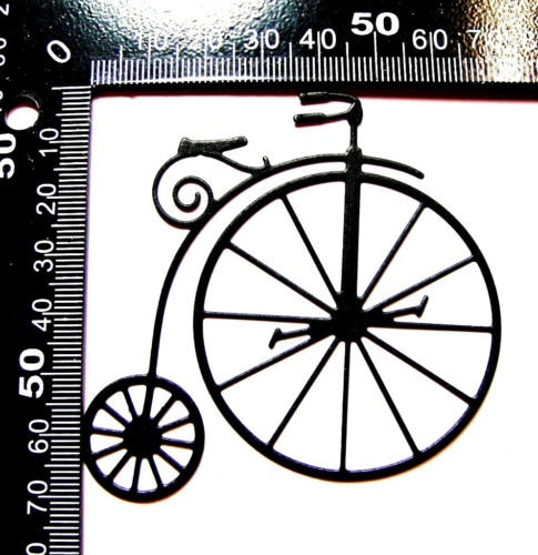 Any Colour//Card! Men 8 Penny Farthing Vintage Bicycle Die Cuts M.B