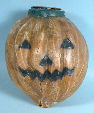 1920s-1930s Halloween Celluloid-like Light Bulb Shade Cover Jack-o-Lantern Witch