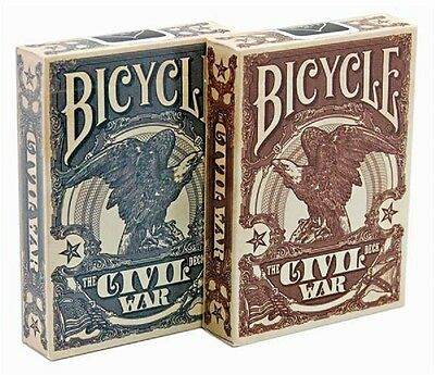Bicycle Civil War Red & Blue Playing Cards Deck By Jackson Robinson New
