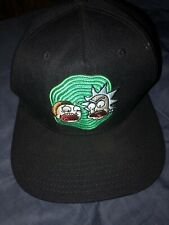 Rick And Morty Cartoon Network Full Color Men/'s Hat Cap Black