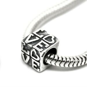 LOVE-carved-in-cube-Heart-Genuine-Solid-925-sterling-silver-European-charm-bead