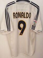 Real Madrid Home Football Shirt Jersey Camiseta | 2003/2004 | Ronaldo #9 (XL)