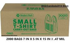 Members Mark Small T Shirt Carry Out Bags 2000 Ct